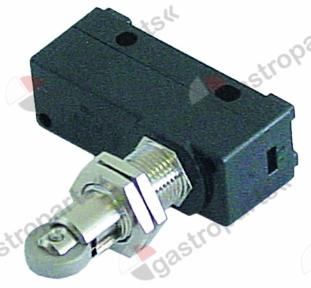 345.639, microswitch with roller plunger 230V 16A 1CO connection solder/screw connection L1 49mm