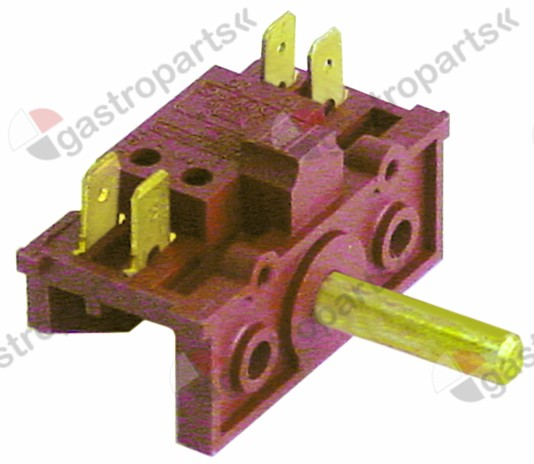 345.686, operation switch 2 operating positions 2NO sequence 0-1 10A shaft ø 6x4.6mm shaft L 23mm