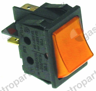 345.689, momentary rocker switch mounting measurements 30x22mm orange 1NO 250V 16A