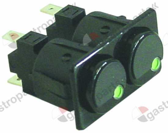 345.691, switch combination mounting measurements 28.5x52.6mm black 1NO/NO