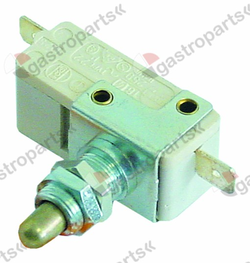 345.695, Replaced by 347772 / microswitch with plunger 250V 10A 1NOconnection male faston