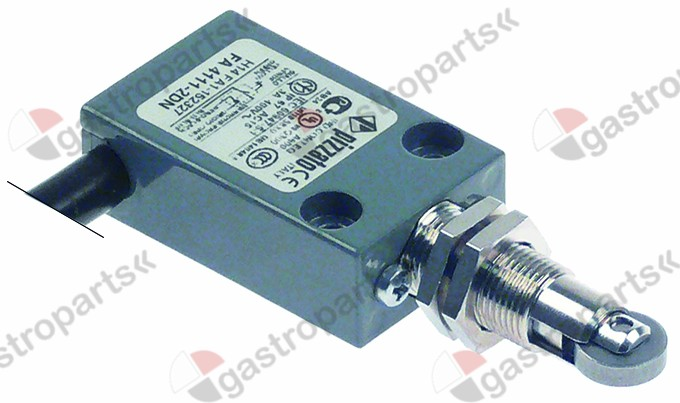 345.696, position switch cast aluminum 1NO/1NC 400V 3A L 86mm W 30mm H 16mm protection IP67