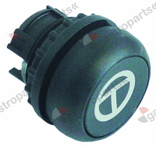 345.705, Replaced by 346723 / 346743 / push button black ø 22mm tipping