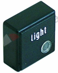 345.726, push button size 23x23mm black light with lens