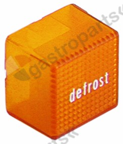 345.728, indicator light lens 23x23 orange defrost