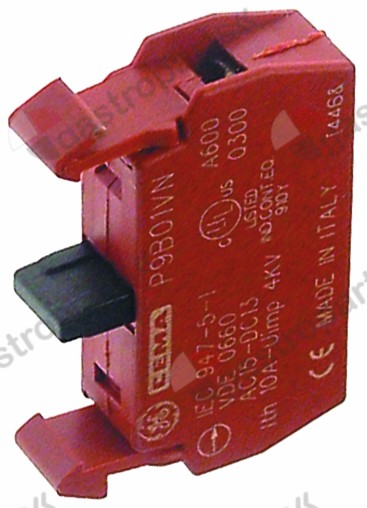 345.780, contact block GENERAL ELECTRIC P9B10VN 1NC max 660V 10A