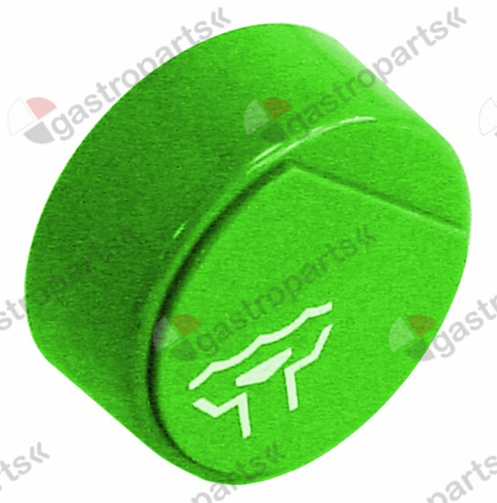 345.852, push button ø 23mm green outflow