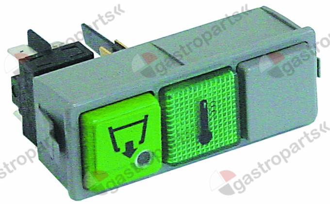 345.868, switch combination momentary mounting measurements 28.5x77.5mm green