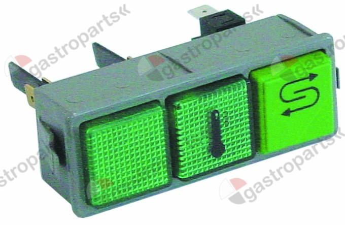 345.869, switch combination momentary mounting measurements 28.5x77.5mm green