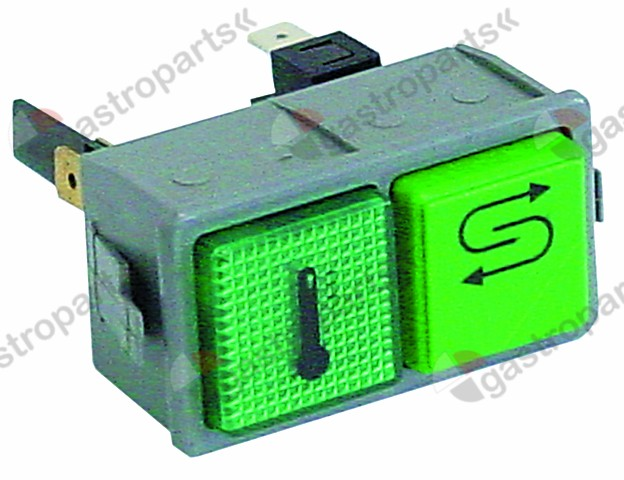 345.876, switch combination momentary mounting measurements 28.5x52.6mm green