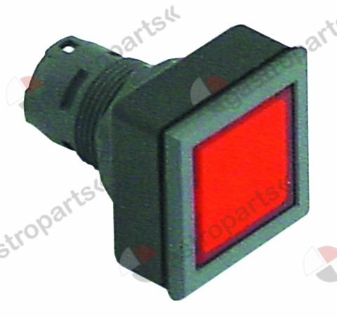 345.930, momentary switch unit type momentary mounting measurements 24x24mm black/red square