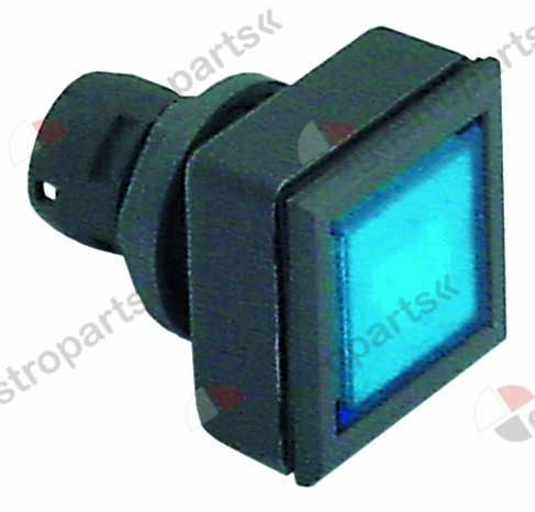 345.932, momentary switch unit type momentary mounting measurements 24x24mm black/blue square