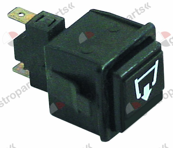 345.939, momentary push switch mounting measurements 28.5x28.5mm black 1NO 250V