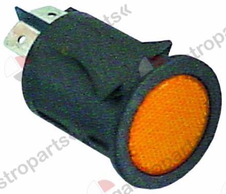 345.961, momentary push switch mounting ø 25mm orange 1NO/indicator light 250V 16A