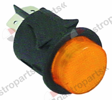345.962, No longer available / momentary push switch mounting ø 25mm orange1NO/indicator light 250V 16A