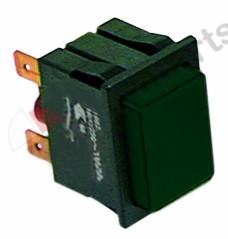 345.964, Replaced by 346536 / push switch mounting measurements 30x22mm black1NO 250V 16A