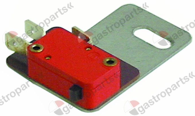 345.965, microswitch 250V 10A 1CO connection male faston 6.3mm