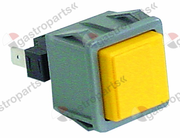 345.974, momentary push switch mounting measurements 28.5x28.5mm yellow 1NO 250V