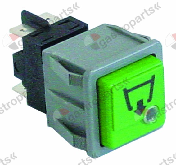 345.977, momentary push switch mounting measurements 28.5x28.5mm green/red 2NO