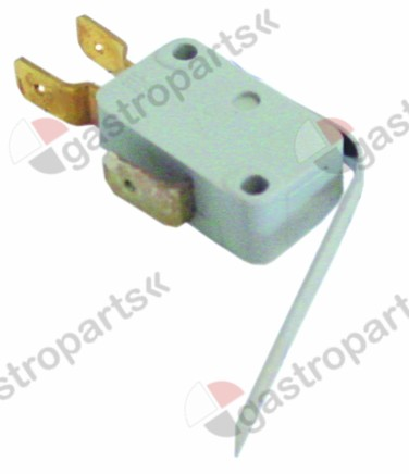 346.072, Replaced by 345107 / microswitch with lever 250V 6A 1COconnection male faston 6.3mm