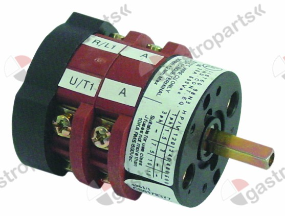 346.148, rotary switch 3 0-1 momentary switch sets of contacts 4 type CS0178377 400V 20A