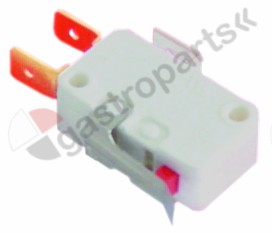 346.159, microswitch with lever 250V 10A 1CO connection male faston 6.3mm
