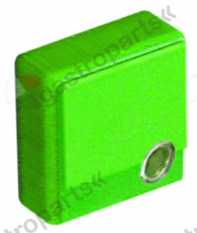 346.217, push button size 23x23mm green with lens