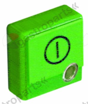 346.221, push button size 23x23mm green ON-OFF with lens