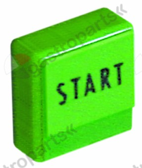 346.222, push button size 23x23mm green start
