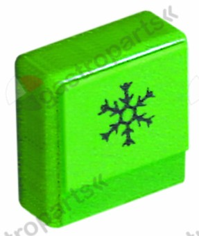 346.225, push button size 23x23mm green cold rinsing