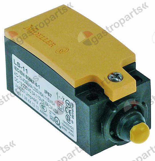 346.284, position switch plastic 1NO/1NC 230V 3A L 75mm W 31mm H 33mm protection IP66