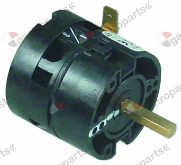 346.304, rotary switch 2 0-1 momentary sets of contacts 1 type HD1201RR000 600V 12A shaft ø 6x6mm