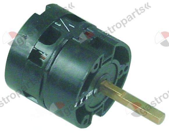 346.305, rotary switch 3 1-0-1 sets of contacts 2 type HD1241ER000 600V 12A shaft ø 6x5mm