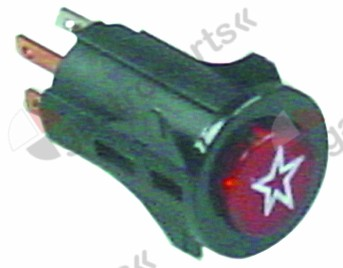 346.320, momentary push switch mounting ø 16mm red 1NO/indicator light 250V 3A ignition