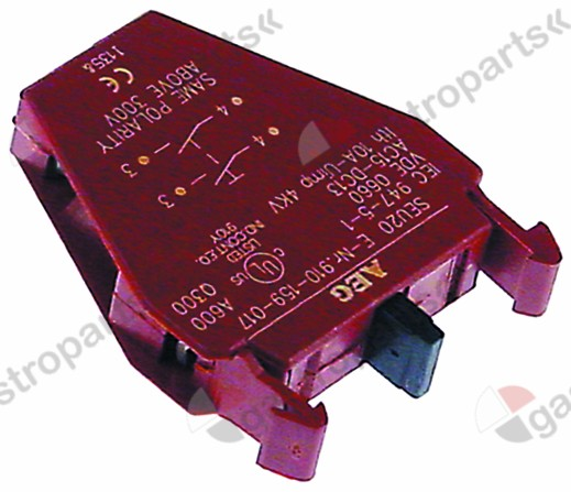 346.322, contact block GENERAL ELECTRIC  2NO max 660V 10A