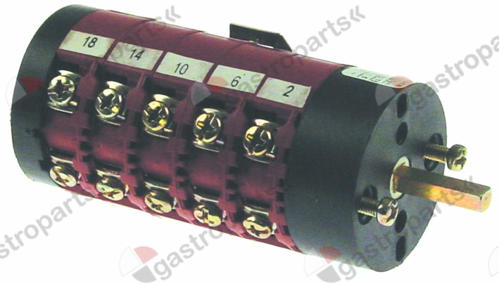 346.341, rotary switch 8 1-2-3-4-5-6-7-8 sets of contacts 10 type CS0169134 400V 16A
