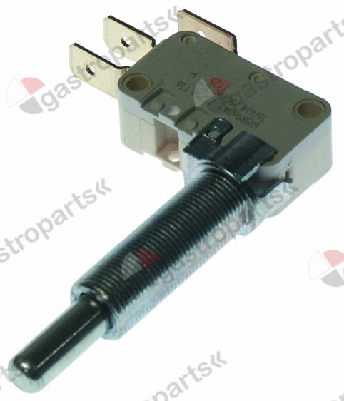 346.369, microswitch with plunger thread M10x0.75 thread L 27mm 250V 16A 1CO