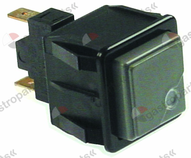 346.373, push switch mounting measurements 28.5x28.5mm grey/red 1NO 250V 16A with indicator