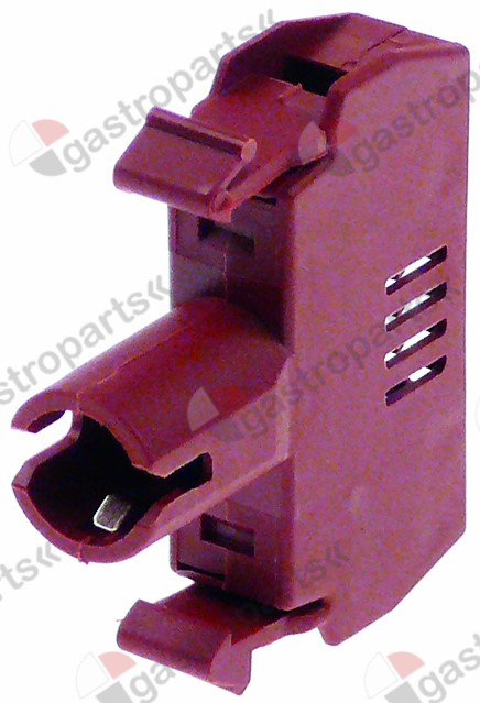 346.412, indicator socket red/brown 0,01A socket Ba9s