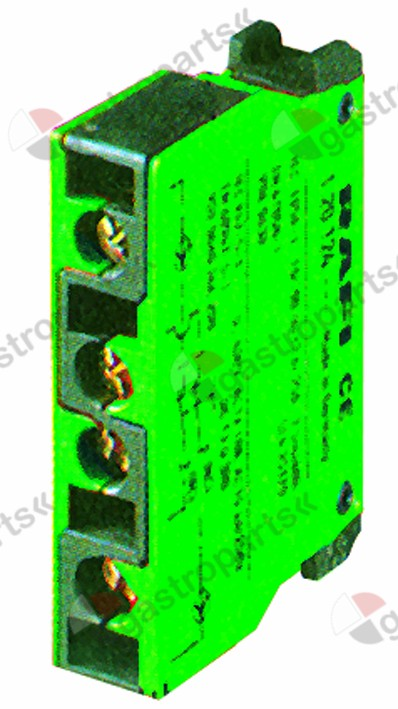 346.711, contact block RAFI  2NO max 400V 10A green