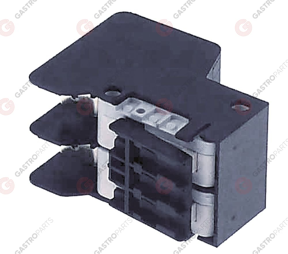 346.927, Microswitch with lever 250V 10A 2CO connection male faston 6,3mm