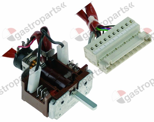 347.022, operation switch with potentiometer 0-1 2-pole 16