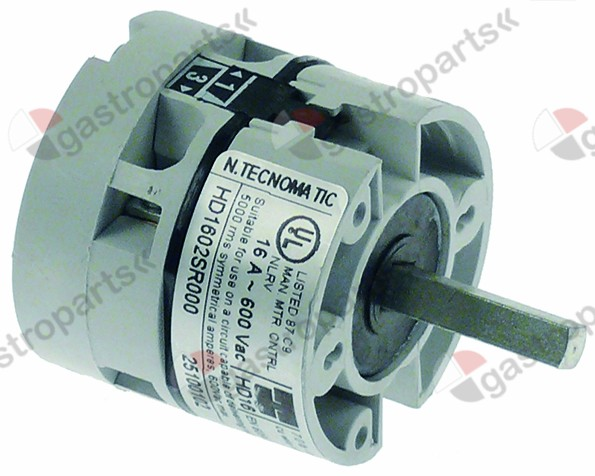 347.055, rotary switch 2 0-1 2 type HD1602R000 600V 16A