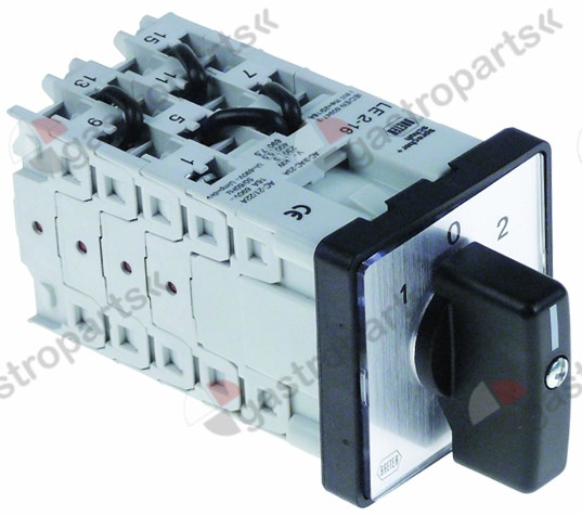 347.156, rotary switch 3 1-0-2 8 type LE2-16-7293 690V 16A
