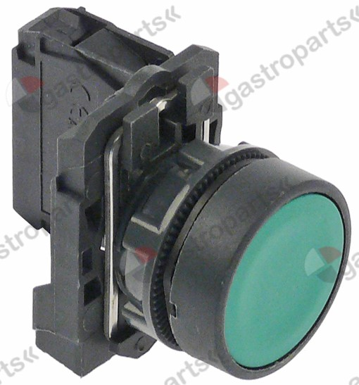 347.964, momentary push switch o 22mm green 1NO 10A 1-pole