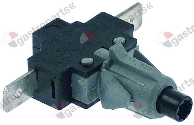 347.979, momentary push switch mounting ø 12mm black 1NO 250V 16A connection male faston 6.3mm
