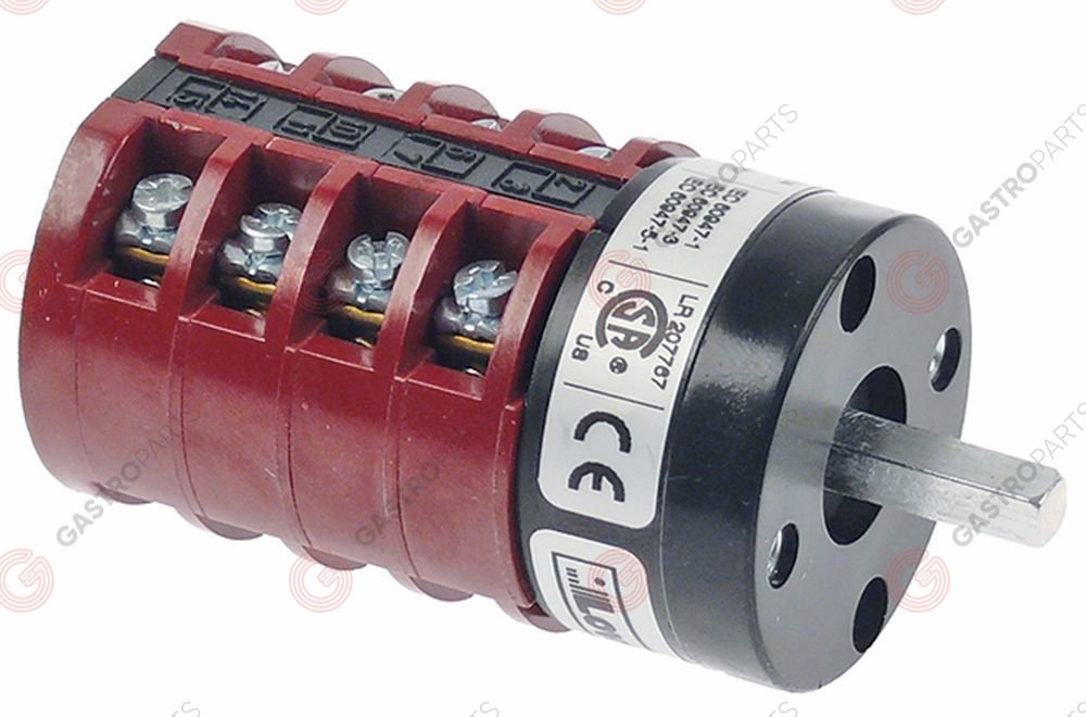 347.984, commutateur rotatif 6 1-0-2-3-4-5 jeux de contacts 8 type GN209537U 400V 20A