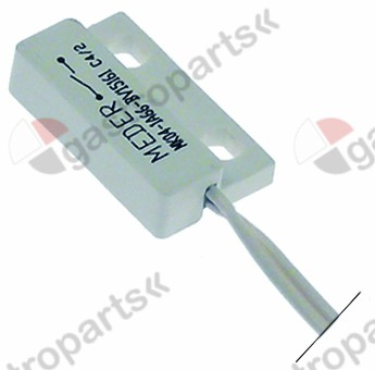 347.995, magneetschakelaar L 23mm B 14mm 1NO 180V 0,5A P max. 10W aansluiting kabel kabellengte 500mm