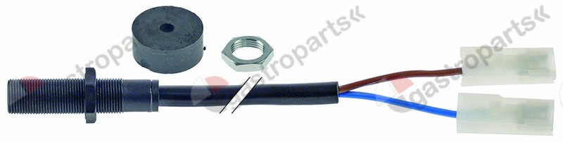 348.006, Read switch kit thread M10x0.75 1NO 250V 0,04A connection male faston 6.3mm cable length 1200mm