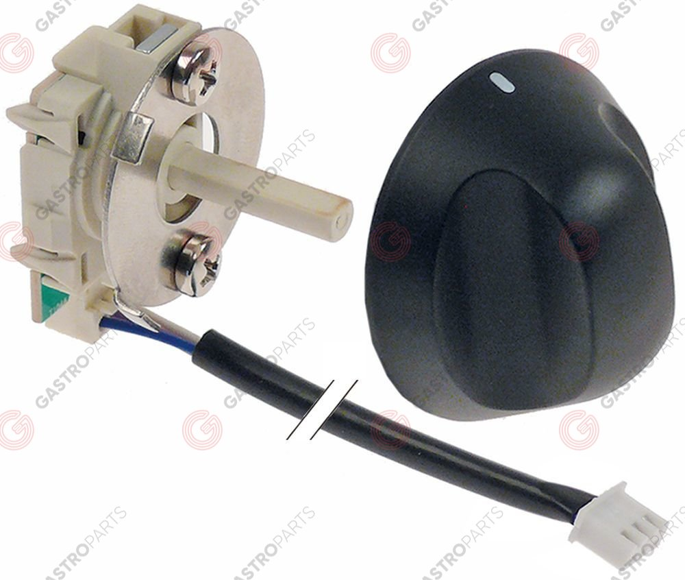 348.016, rotary switch kit sets of contacts 1 1-0-1 1CO type 234450 48V 0,1A shaft ø 5,9mm shaft L 23mm